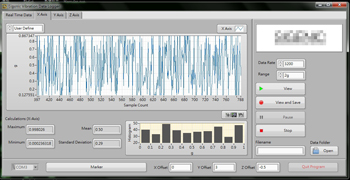 LabVIEW Programmer -- Vibration Data Logger Histogram